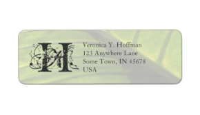Elephant Leaf Return Address Label